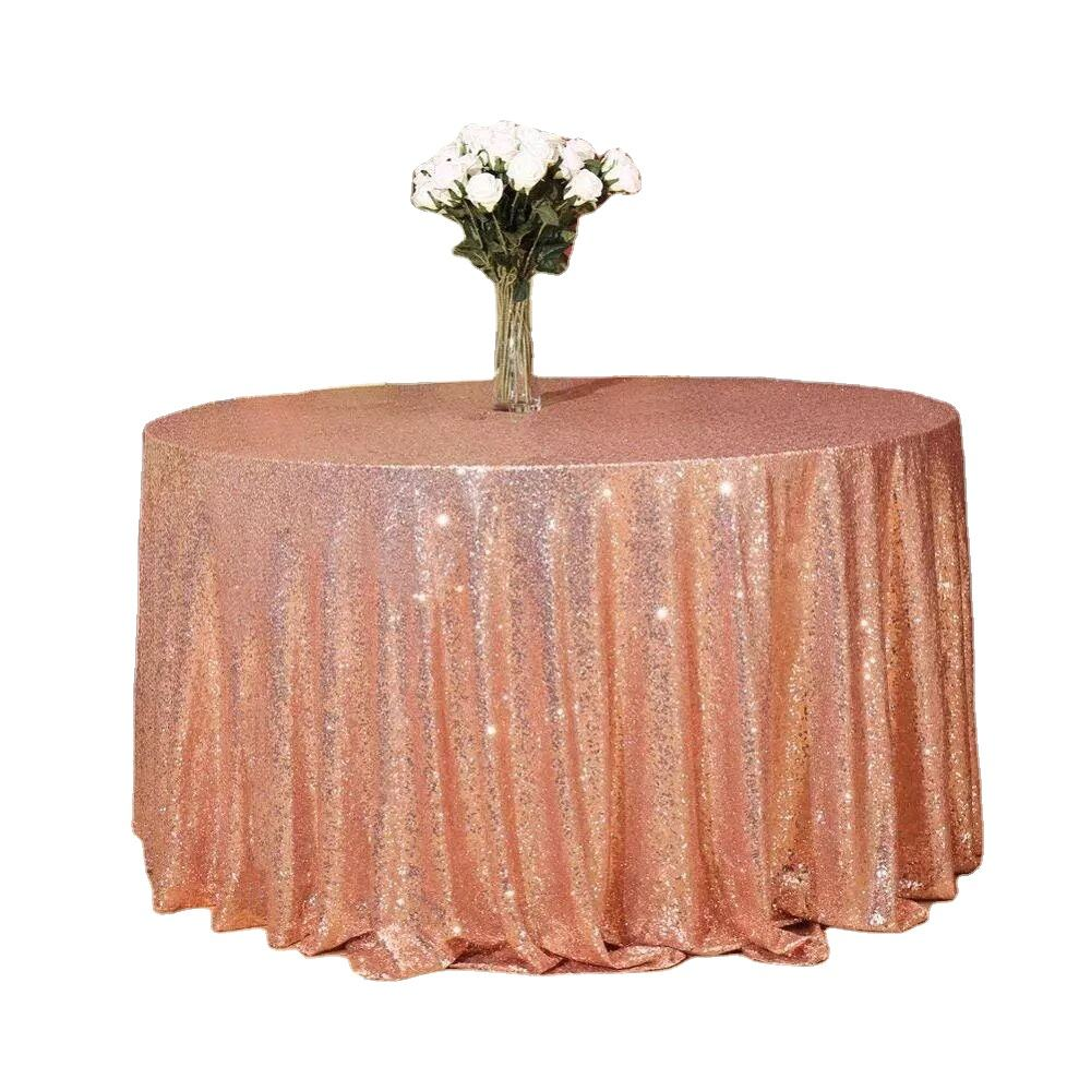 Wholesale all kinds of color Sequin Tablecloth including rose gold