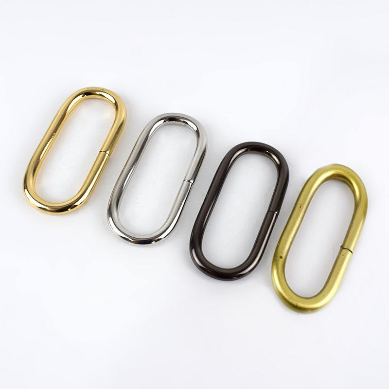 Deepeel AP365 32mm Metal Loop Oval Rings Luggage O-Ring For Purse Backpack Bag Strap Adjustable Buckle