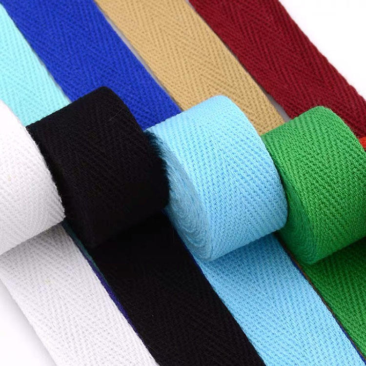 Webbing factory wholesale double sided herringbone organic cotton twill tape for bias binding