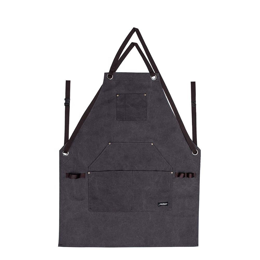 Heavy Duty Canvas Industrial Work Apron with Tool Pockets, Chef Apron Cooking Apron for Men