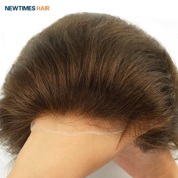 Newtimes hair custom full swiss lace human hair replacement men toupee wig human hair system