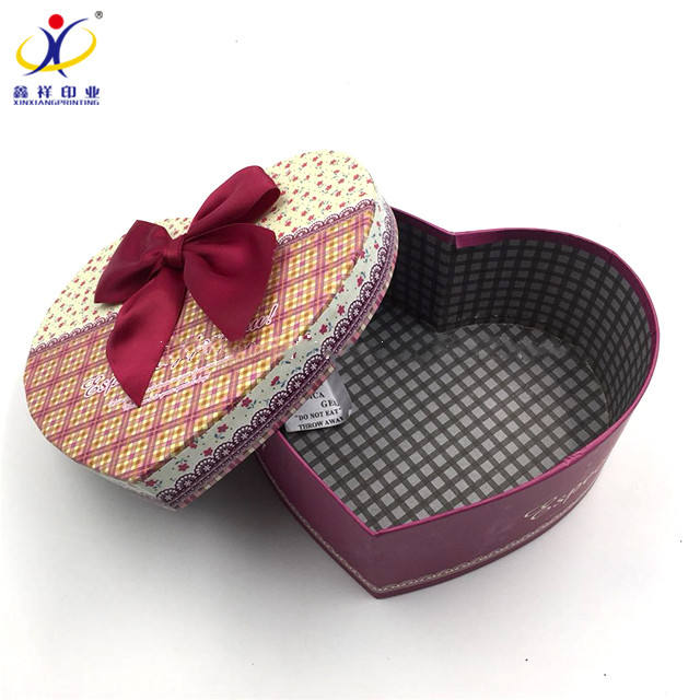 Sale Well Wholesale New Type Heart Shape Cardboard Gift Box Flower Jewelry Heart Shape Gift Paper Packing Boxes