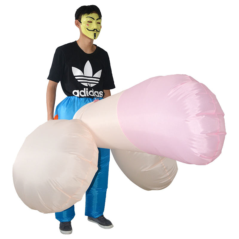 HUAYU Men's Inflatable Costume Christmas Costume Adult Cosplay Party Blow Up Fancy Dress Inflatable Bachelor Party Costume