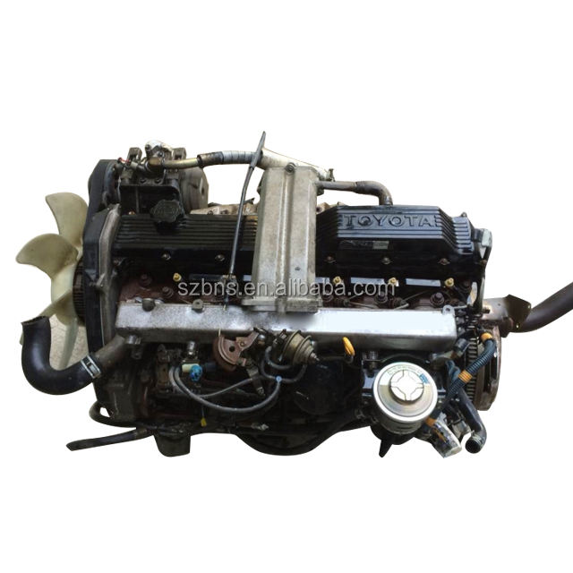 Complete Japanese 1HZ used diesel engine car engine in assembly with transmission no turbo