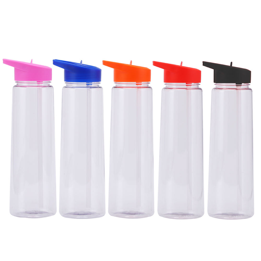 750ml Sport Wholesale Bpa Free Clear Plastic Tritan Material Plastic Water Bottle With Flip Straw