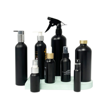 E-better Factory direct matte black 250ml 500ml 750ml aluminum pump bottle for cosmetic shampoo gel cleaner