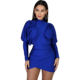 Dress Long 2020 Fall Amazon Hot Sale Irregular Bodycon Solid Dress Long Sleeve Womens Clothing