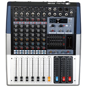 Mixer Kekuatan Audio, Amplifier Audio Bluetooth Profesional Mode Baru