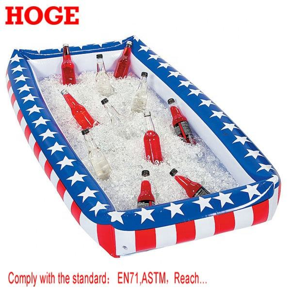 Patriotic plastic Inflatable Buffet Cooler float ice tray