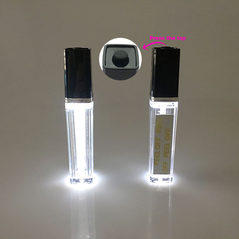 9ml Empty Lip Gloss Container with LED light and Mirror LED Lip Gloss Tube