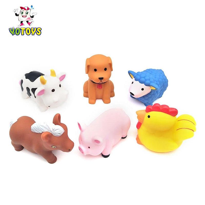 New Design farm animal bath toys transparent merchandise box funny gifts