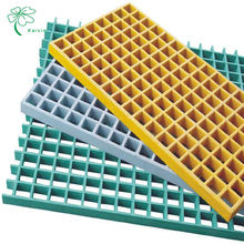 Factory Wholesale High Strength Durable Molded Pultruded Mesh Walkway Fiberglass FRP Grating Anti-slip Grate