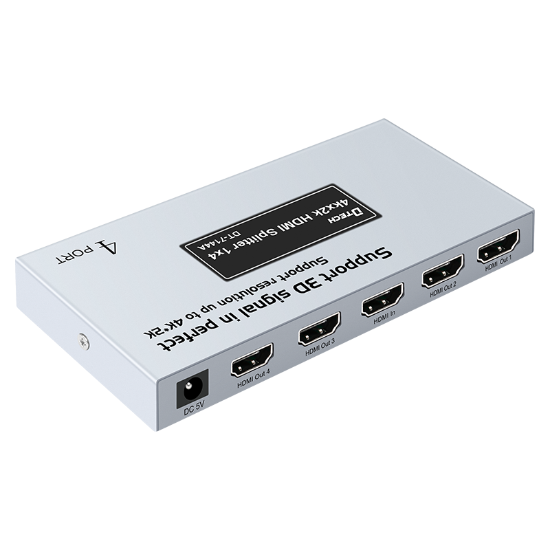 Qualità grossista DTECH <span class=keywords><strong>HD</strong></span> 3D 4K 1080P video signal adapter 1 in 2 out HDMI splitter