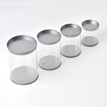 Pvc Tin Can Transparent Dust Packaging Tin Box With Pvc Window