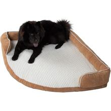Custom wholesale Best seller Luxury Memory foam dog bed bolster pet products 2018