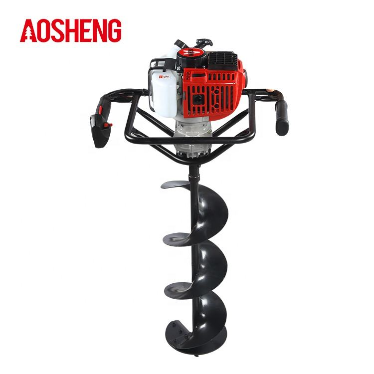 2 stroke post hole gasoline auger equipment earth drilling machine