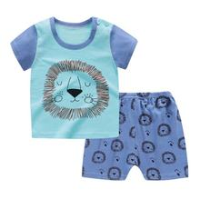 Hot Sale Summer Children's Sets Baby Boy Clothing Sets 2pcs T-shirt kids clothes Fashion baby printed cotton casual