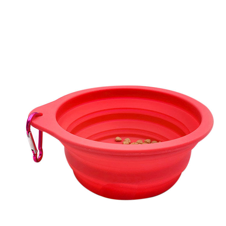 Professional Manufacturer Collapsible Folding Reusable Silicone Pet Bowl without lid