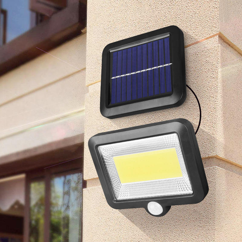 High Quality Black Trumpet 3 Function Garden Solar Security Led Outdoor Wall Lights