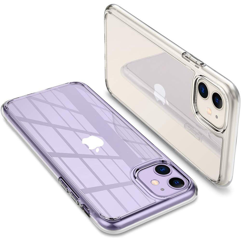 Claro ultra delgado PC duro TPU móvil funda posterior para móvil para Apple iPhone 11 XI 2019 funda