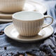 New design high quality cappuccino latte cups 220 ml ceramic coffee tea cup saucer