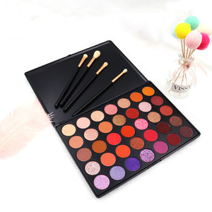 New Arrival Yellow Multi-colors Makeup Blush Eyebrow Powder eyeshadow pallet