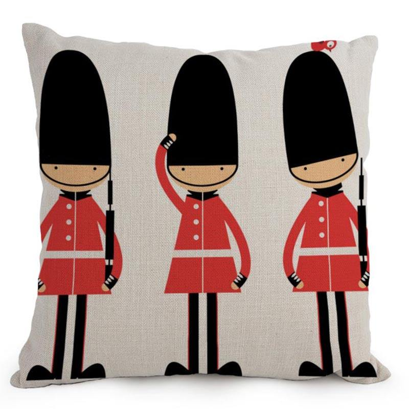 Plus Decorative Use and Square Shape blank cushion cover London building design pillow case