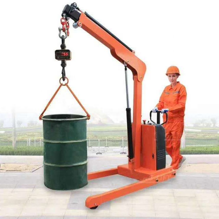 500kg 1000kg 2000kg 3000kg Electric Movable Small Hydraulic Spider Floor Crane Mini Crane with Lift Mould 3 2 1 ton