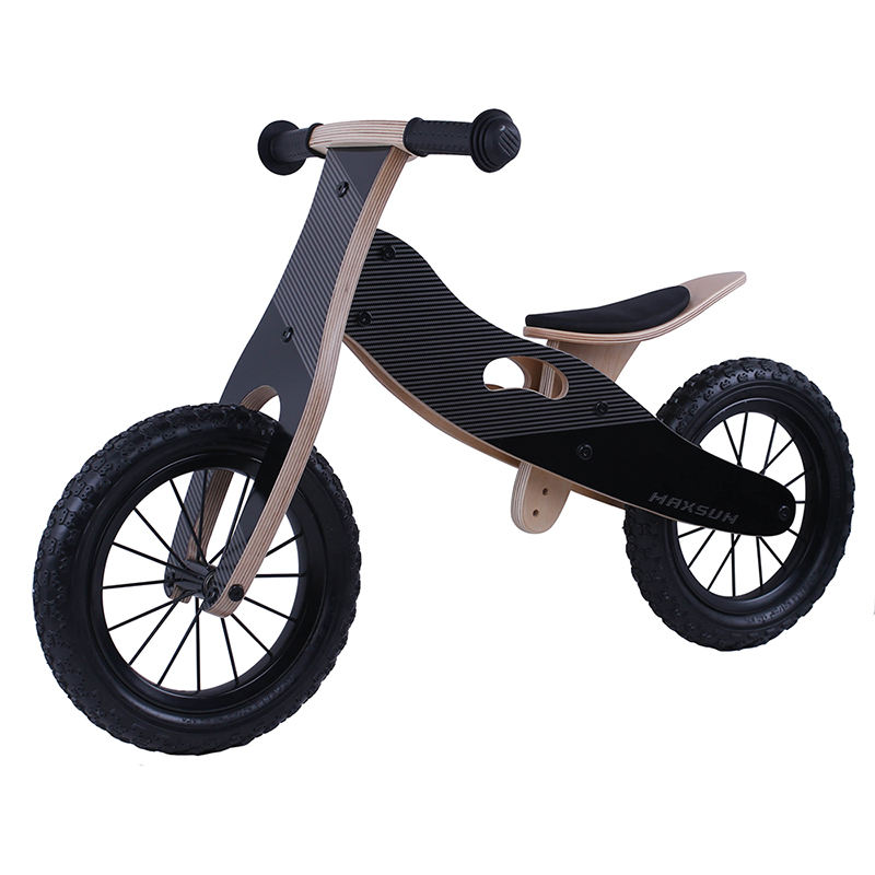 12 inch wooden balance bike cheap children wooden bike hump ride on bicycle