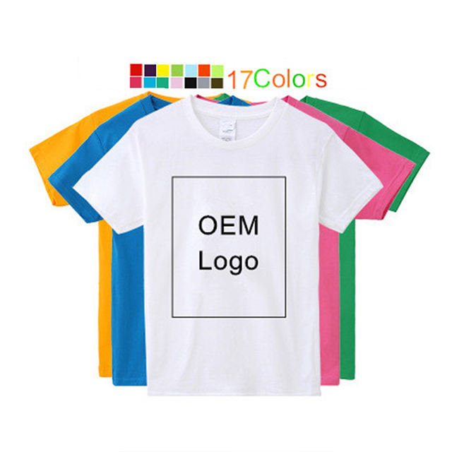 2020 high quality custom printing plain wholesale t shirts 100 cotton for kids blank plain kids t shirt logo printing for child