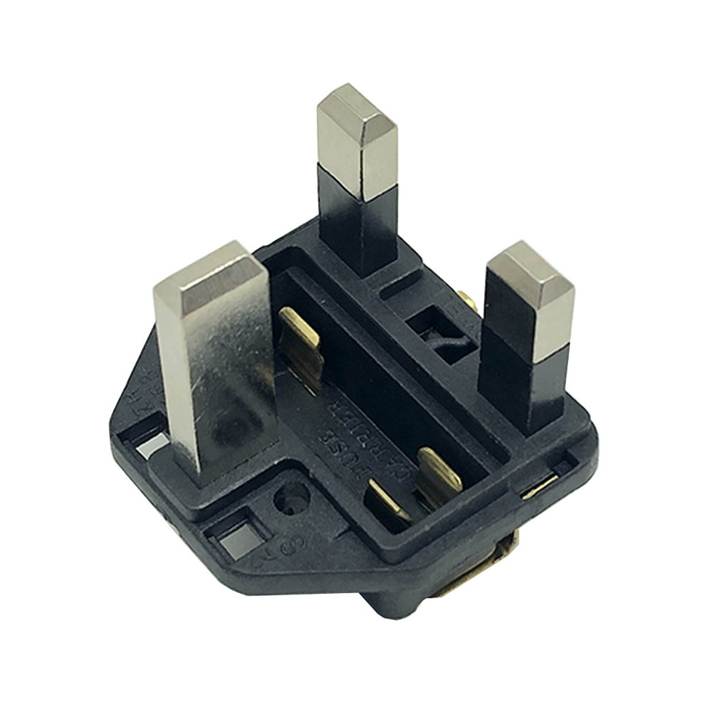 Factory Direct UK 3-Pin Electrical AC Plug insert/Brtain BSI power plug insert BSI