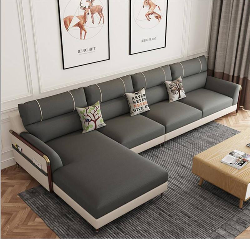 Diseñado moderno sofá de la tela sofá Estilo nórdico Simple en forma de L de muebles para el hogar