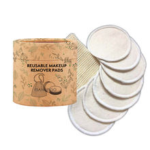 Good Quality Round Washable Reusable Bamboo Makeup Remover Pads