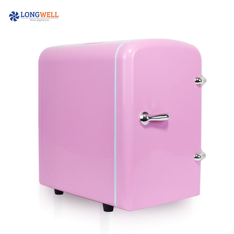 Amazon hot selling 4l cosmetic mini fridge AC DC home car used beauty makeup fridge for skincare