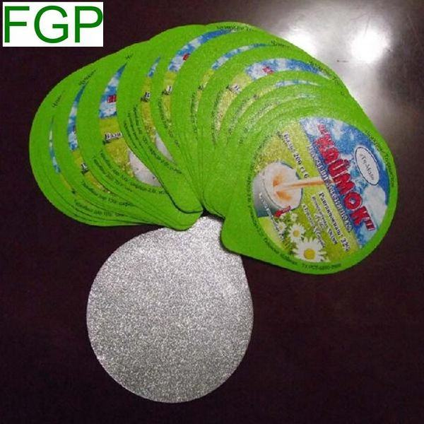 Quality printed aluminum foil lid for sealing to milk bottle/yogurt cup lidding foil with logo printing food grade made in China