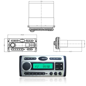 Best selling waterproof player Hasda Marine Boat Stereo Combo Quality Flush DVD/MP3/CD/USB/Radio player for Wholesale