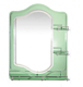 India hot sale cheap makeup mirror bathroom double layer shelf mirror