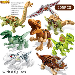 205 PCS Dinosaur park kids toys T-Rex Blue figures Building Blocks Jurassic city World Bricks DIY set