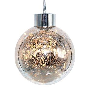 Factory direct Xmas ornament 200mm led christmas ball