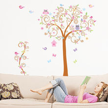 New arrival removable owl tree wall stickers home decor