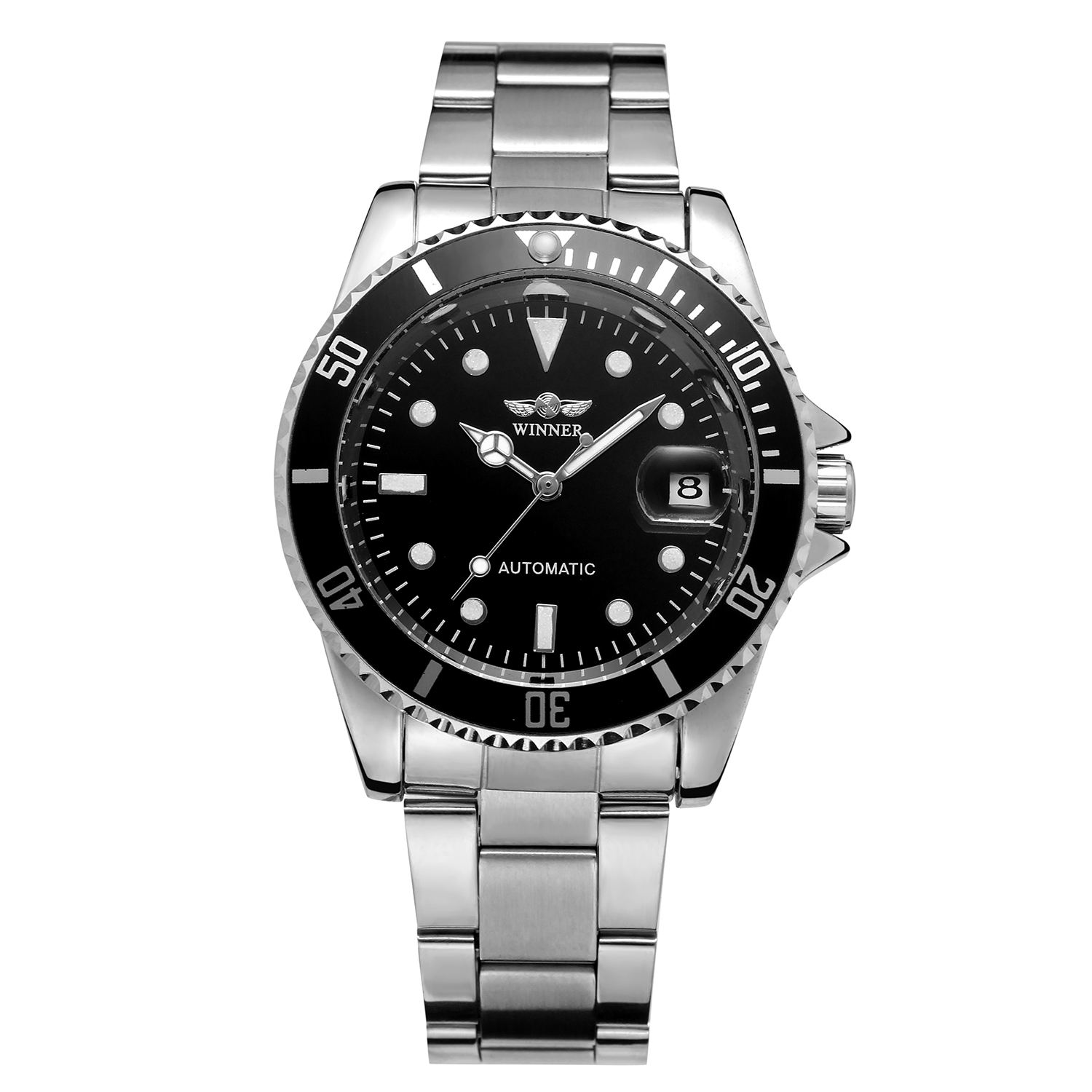 2020 Hot Selling Brand Classic Men Stainless Steel Automatic Mechanical Custom Logo Watch With MOQ 1