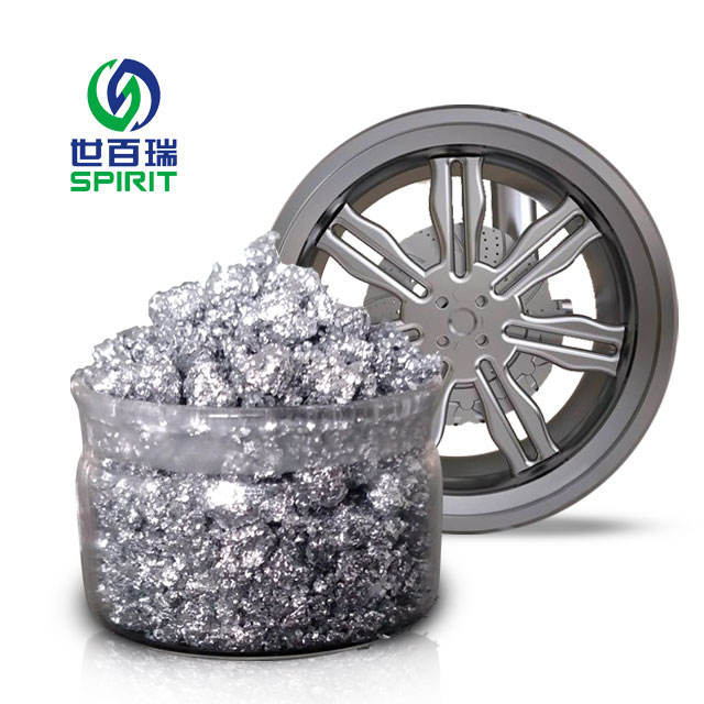 Imitation plating aluminum paste for car paint and wheel coating
