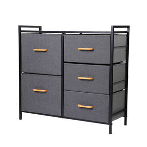Hot-selling Sturdy Furniture Storage Holder Rack Storage drawers Dresser Storage Tower with Metal Frame