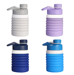 Silicone Foldable Sports Water Bottle