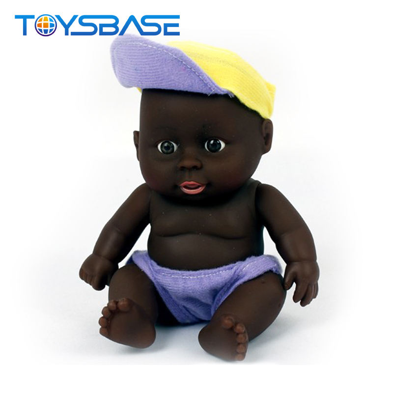 Cute baby reborn african black doll