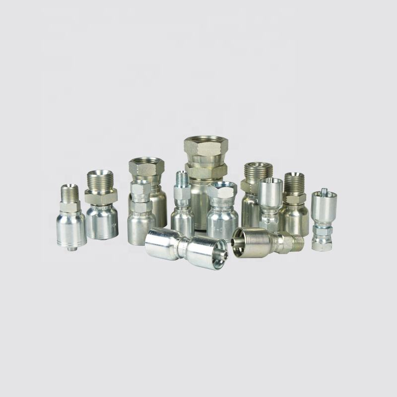 1 piece hydraulic fitting for steel hose insert 11343