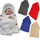 Hot Sell INS Outdoor Stroller Fleece Comfort Knitted Warm Winter New Born Sleeping Bag For Baby