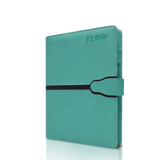 A5 Leather Notebook Office Personal 2021 with Logo 6 Ring Binder Magnetic Loose-leaf Notebook Leather Note Book Hardcover 100pcs