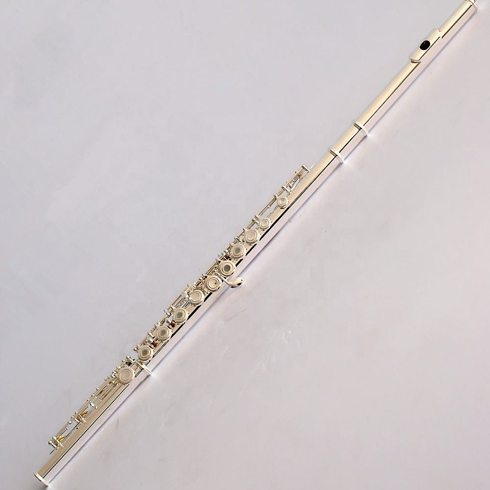Professional open hole flute 17 hole silver - plated/ playing stage instruments