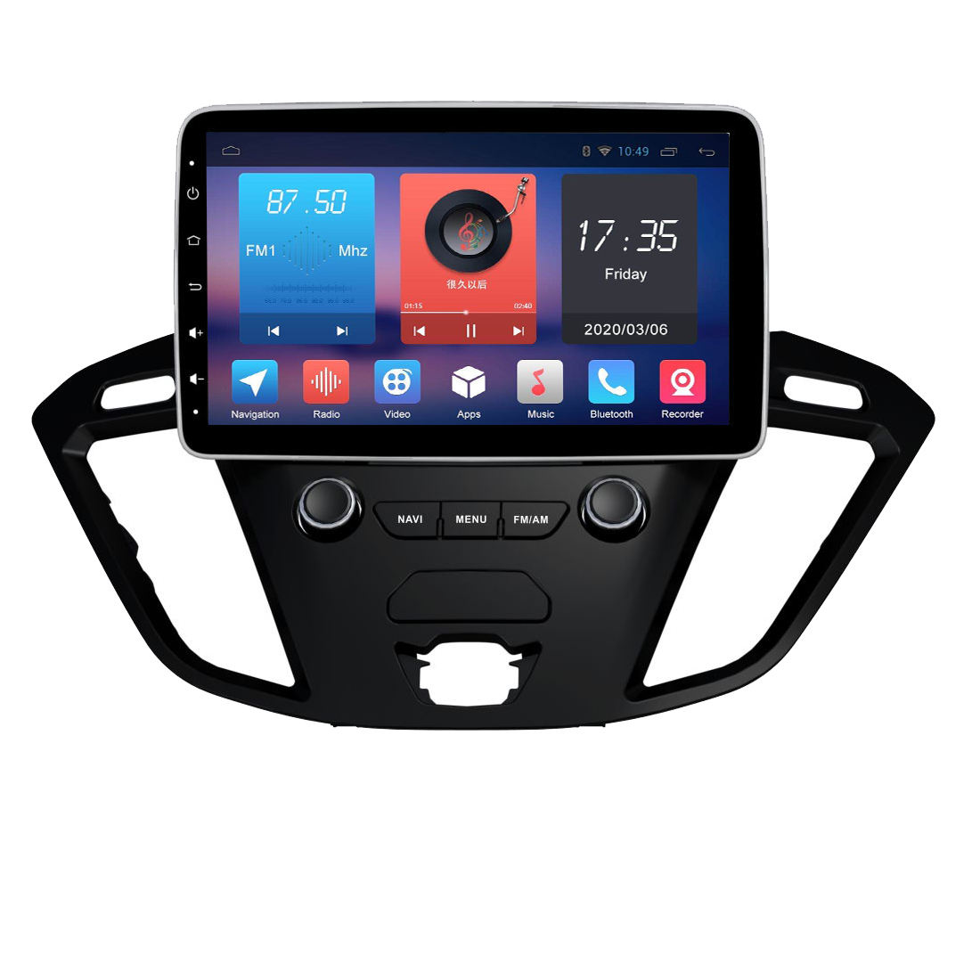 Carplay Für Ford Transit Nach 2015 + Android 10,0 Auto <span class=keywords><strong>DVD</strong></span> Player GPS Karte Navigation Auto Steuergerät Multimedia Player Band recorder